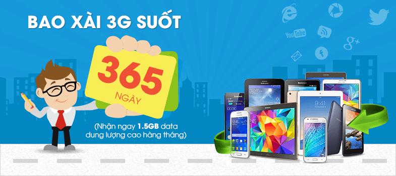 bao xài 3G 1 năm