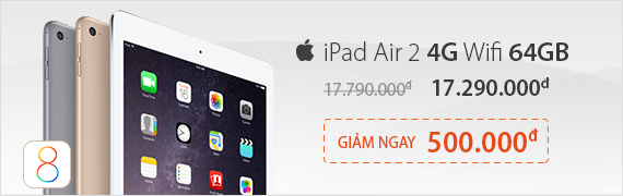 iPad air 2 ra mắt