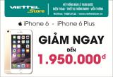 iPhone 6 & iPhone 6 Plus giảm giá sốc đến 1.950.000 đồng.
