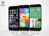 Samsung Galaxy S6, HTC One M9 hay iPhone 6 bạn chọn gì??