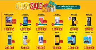 Tưng bừng khai trương - Crazy Sale - Phụ kiện giảm tới 50%