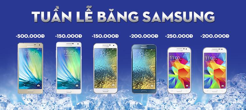 Tuần lễ băng Samsung đập tan nắng hè
