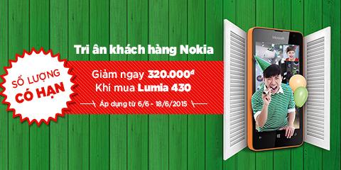 Lên đời Smartphone – Lumia 430 giá chỉ 1,279,000 đ