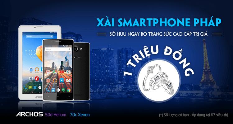 Xài Smartphone Pháp sở hữu ngay bộ trang sức cao cấp trị giá đến 1 triệu đồng