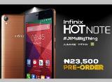 Smartphone Hot Note sạc 75% pin trong vòng 55 phút