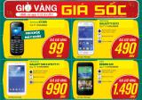 Mừng khai trương siêu thị - khuyến mãi Smartphone Samsung chỉ từ 490.000đ