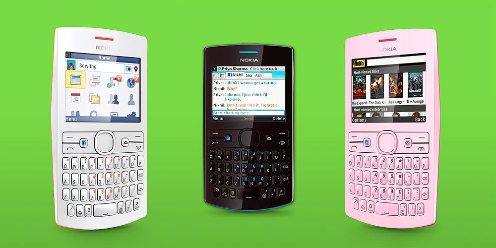 Nokia Asha 205 và 206: Những Facebook phone giá rẻ